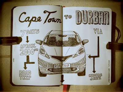 Sketch - Cape Town to Durban