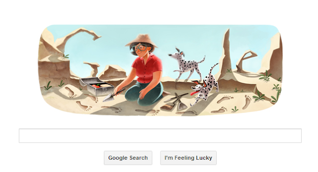 Mary Leakey's 100th Birthday Google Doodle
