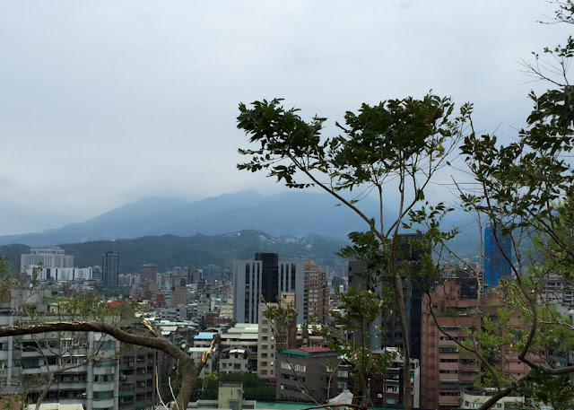 view of Tianmu from Zhishan, Taipei