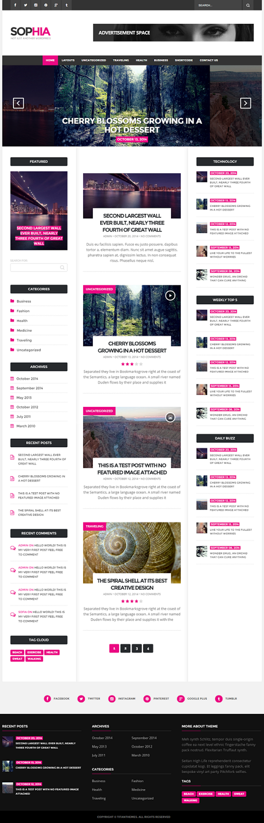 Sofia - An Elegant Magazine WordPress Theme