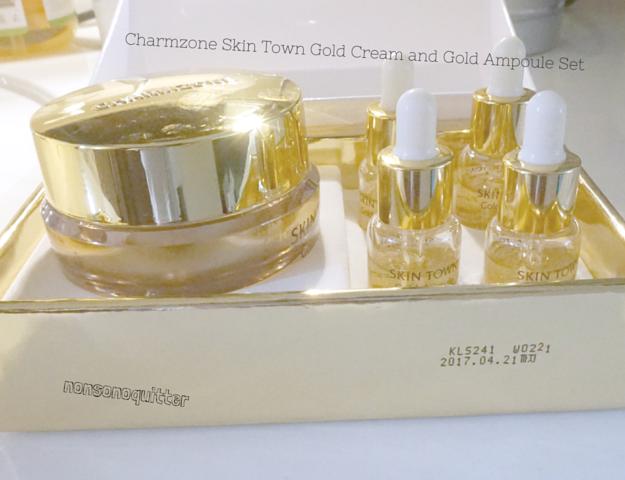 Charmzone Skin Town Gold Cream Gold Ampoule Set Charm Zone