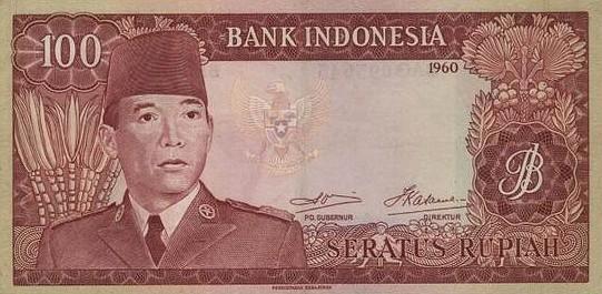 Rp100 tahun 1960
