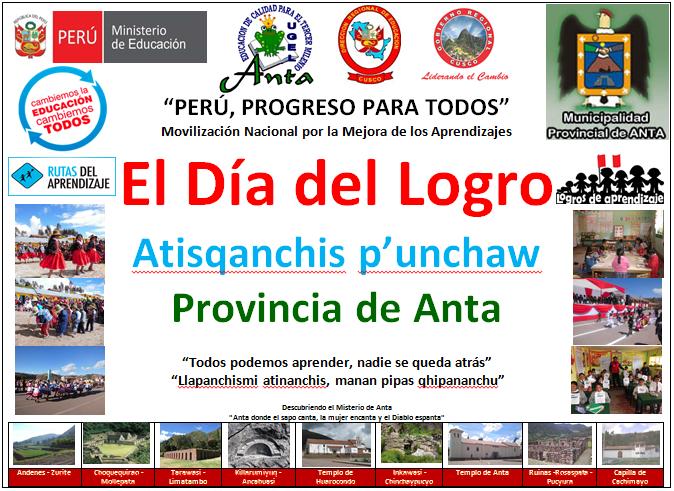 UGEL Anta Celebra el Día de Logro - 05 de octubre - Directiva 09