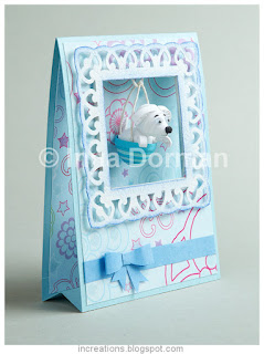 Tent card with a quilled puppy