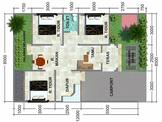 Sketsa Denah Rumah Minimalis Sederhana Modern 2014