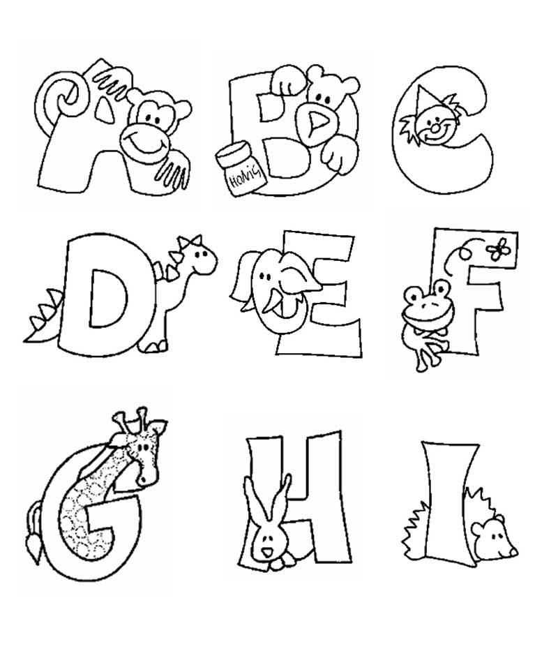 Alfabeto com bichinhos para colorir imprimir nome do seu - Letras para dibujar ...