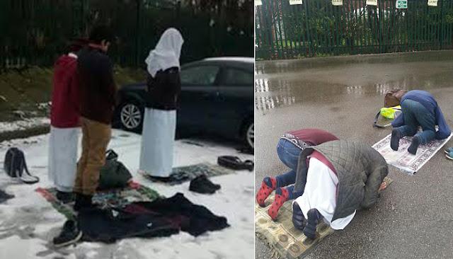 Siswa Di Inggris Terpaksa Shalat Di Luar Kelas Walaupun Hujan, Ini Sebabnya?