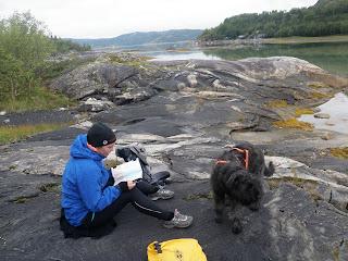 lunch på klippor