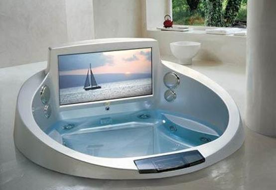 Tinas De Baño Jacuzzi:Tinas de baño lujosas con TV