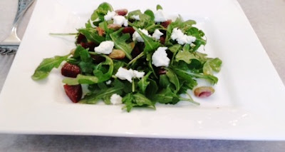 Beet Salad With Goat Cheese, Pistachios And Orange Vinaigrette