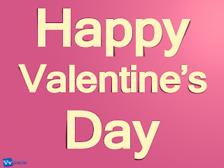 Happy Valentine's Day Text Simple HD Wallpaper Pink Background
