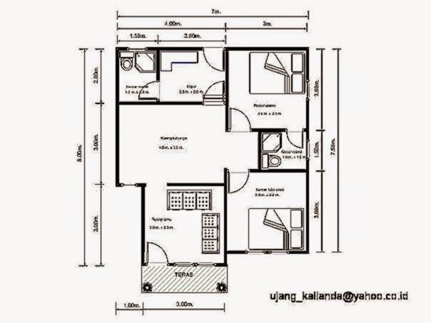 Denah Rumah Minimalis Sederhana Design Rumah Minimalis