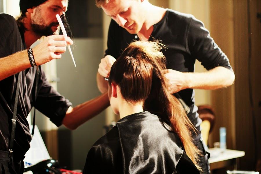 berlin fashion week augustin teboul backstage hair styling