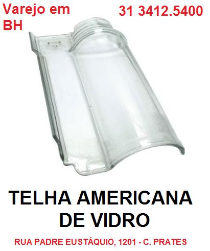 Telha Americana em  Vidro Prismatic