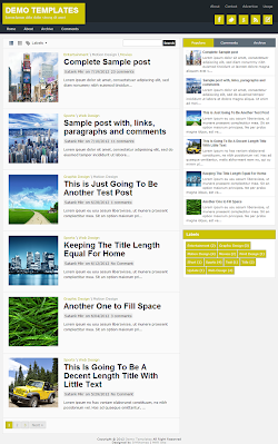 TheTuts Yellow Blogger Template