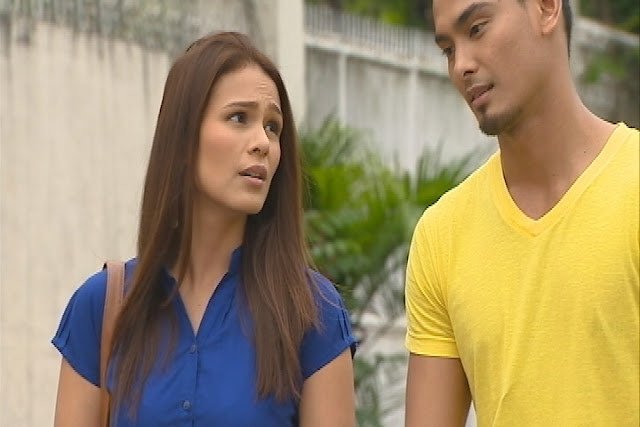 Iza Calzado as Andrea and Marx Topacio as Balong in 'Kahit Puso'y Masugatan'