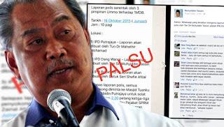 Dakwaan Tun M buat laporan polis, palsu
