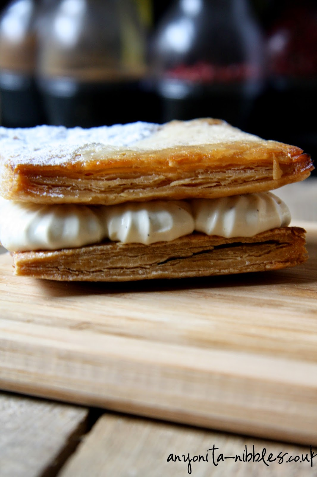 Filling andx layers to a mille feuille from Anyonita-nibbles.co.uk