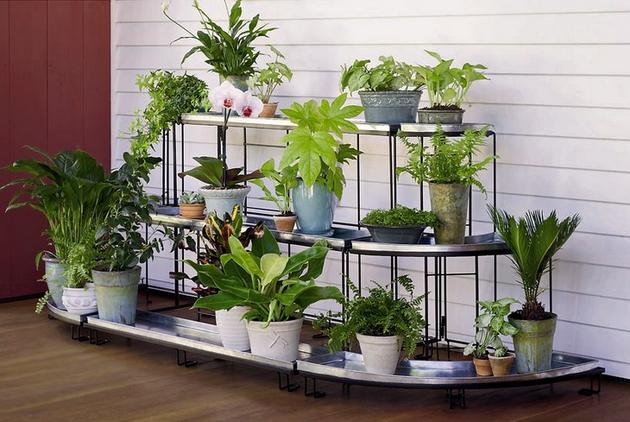 Plantas y flores soportes decorativos para plantas - Soportes para macetas ...