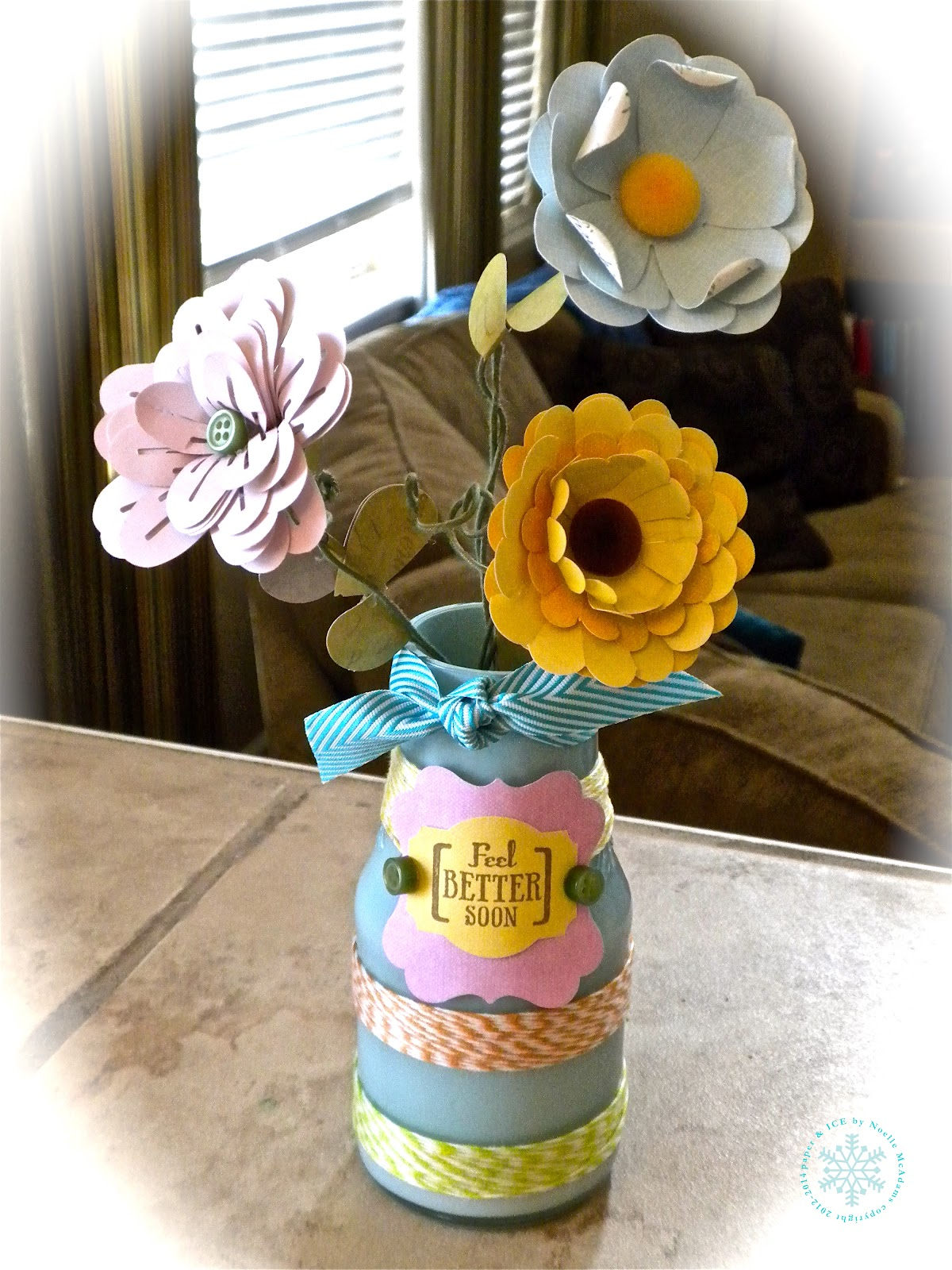 Paper Ice Handmade Paper Flowers In A Recycled Vase Spotted