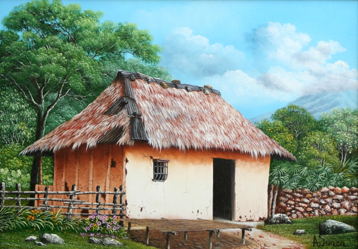 Im genes arte pinturas oleos casas viejas - Paisajes de casas ...