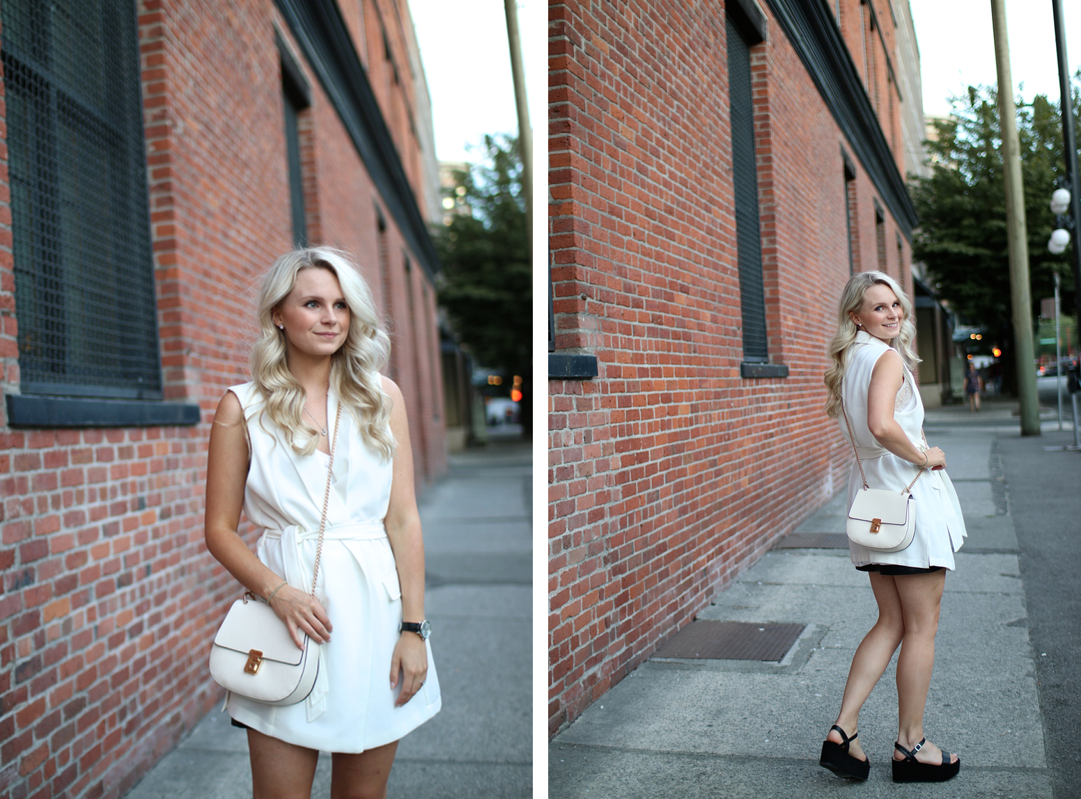 flatform outfit, all white outfit, summer time in vancouver