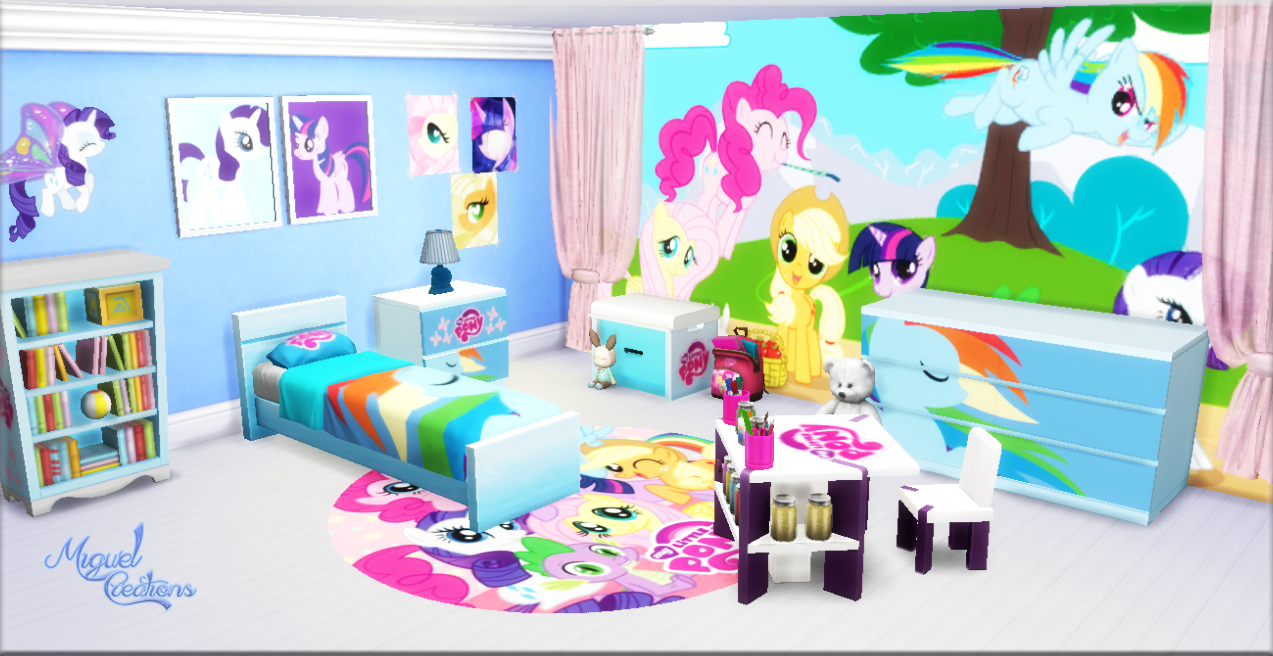 my sims 4 blog my little pony bedroom set by miguel