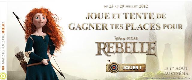 """Jeu Gémo: 50 lots de 2 places pour le film """"Rebelle"""" à gagner"""