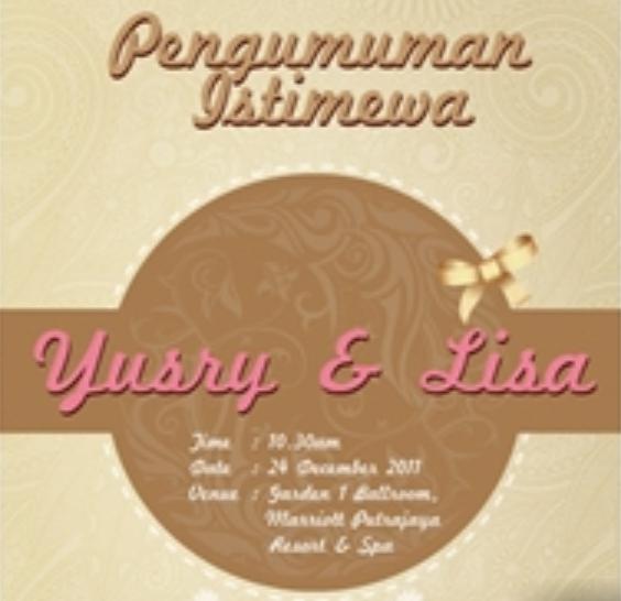 Gambar Perkahwinan Lisa dan Yusry | Kad Kahwin Yusry Dan Lisa | Majlis ...