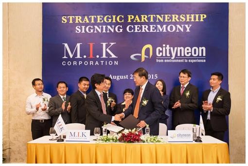 Lễ ký kết hợp tác toàn diện giữa M.I.K và Cityneon