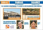 Volantes de pre candidatos a concejales del partido SI