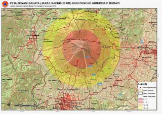 Peta Zona Bahaya Merapi