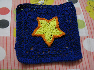 Crochet star overlay square