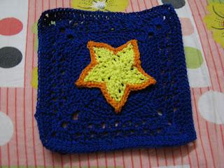 Crochet star overlay square