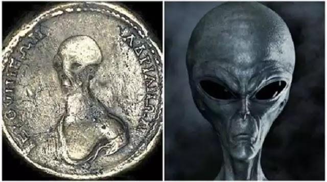 Θα μπορούσαν αυτά τα αρχαία νομίσματα δείχνουν οτι οι εξωγήινοι συνυπάρχαν με τους ανθρώπους αιώνες πριν;