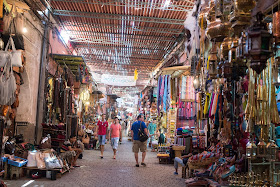A souk in Marrakech while teaching english abroad in Morocco.