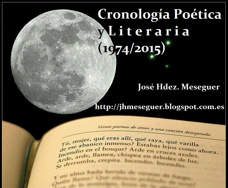 Cronología Poética y Litetraria (1974/2015)