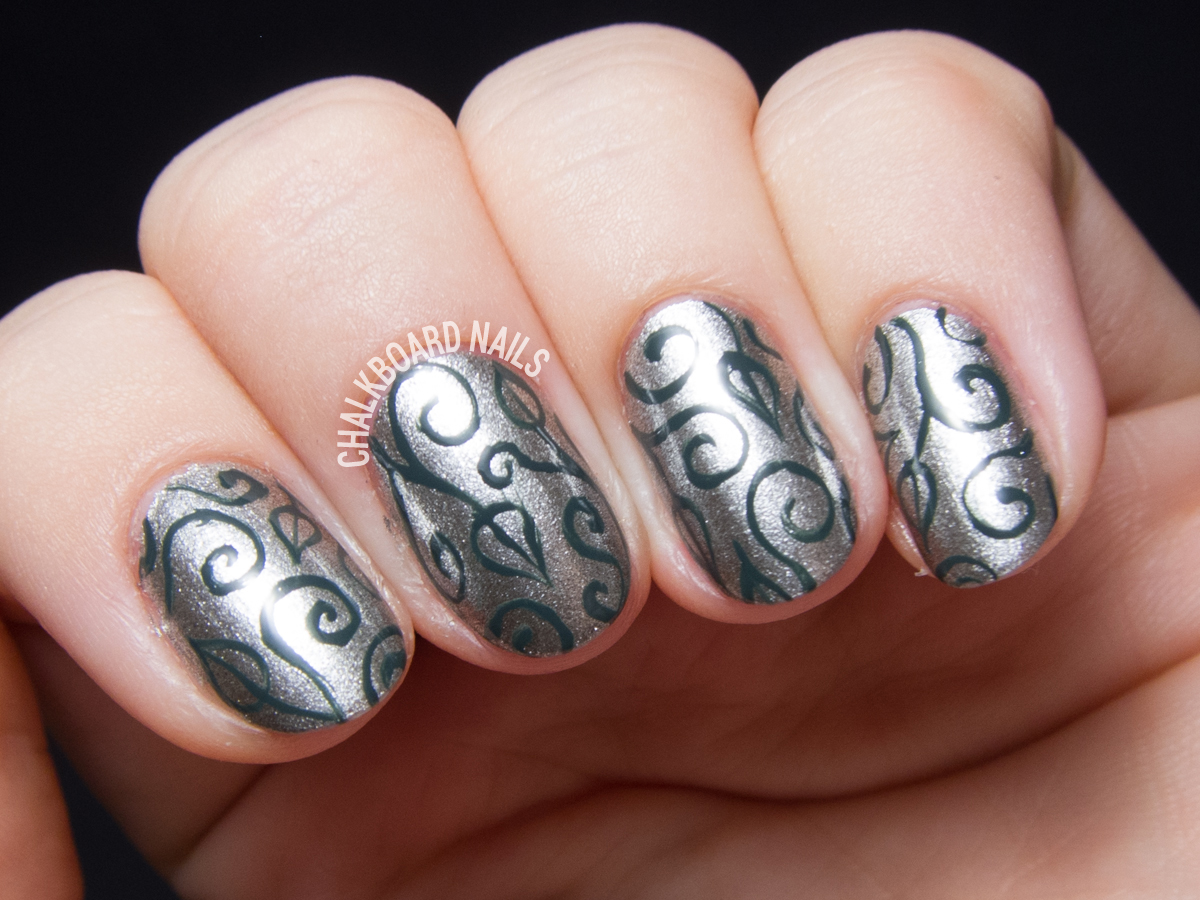 Wrought Iron Scrolls with the China Glaze Great Outdoors Collection