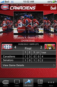 Bell unveils Canadiens mobile app for Android, BlackBerry, iOS