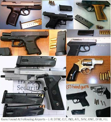 9 loaded firearms.