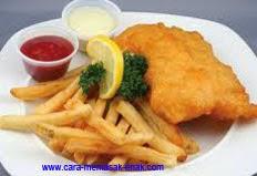 resep praktis dan mudah membuat (memasak) masakan khas negara inggris fish and chips spesial enak, gurih, lezat