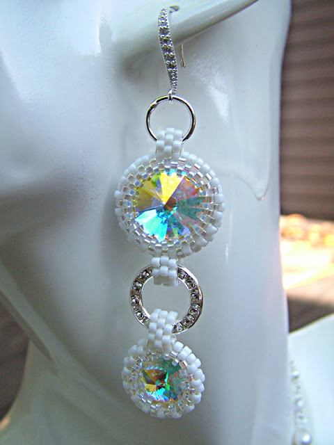 Details of Bling & Purity Swarovski Rivoli-Bezel Necklace