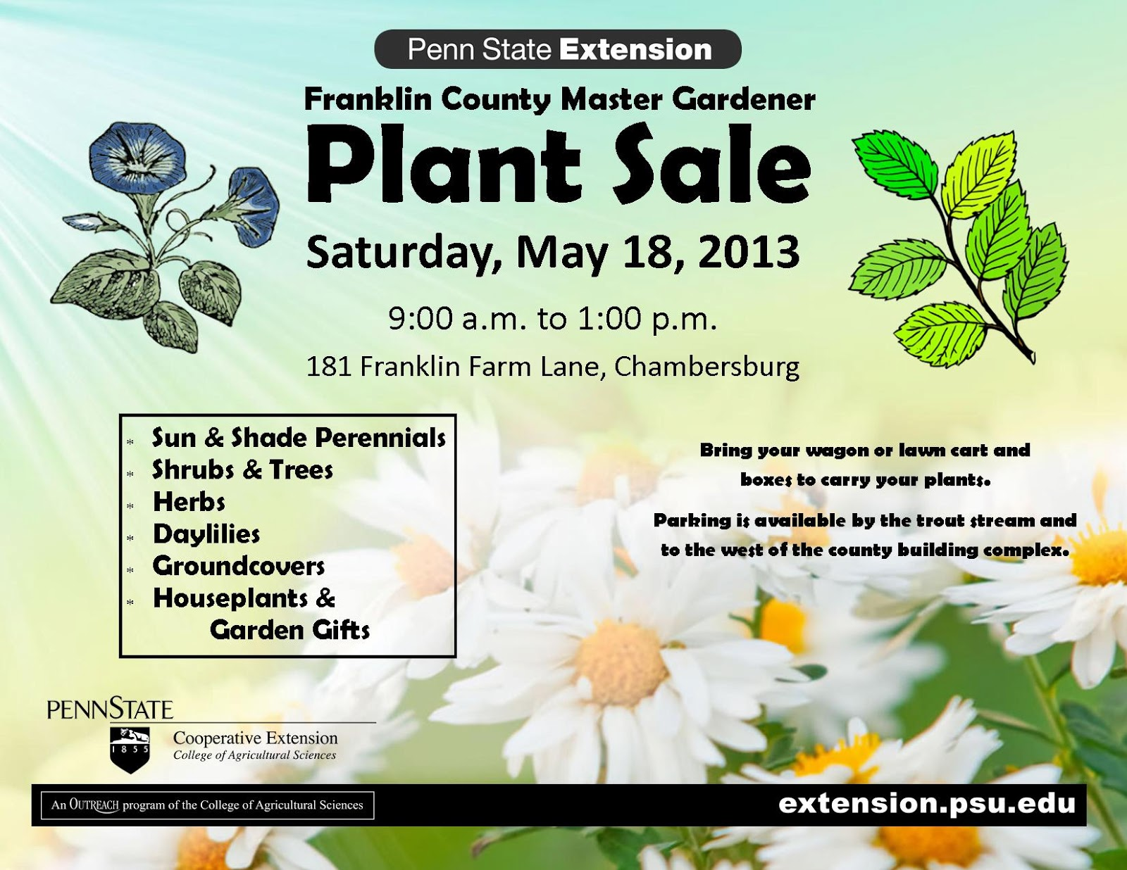 franklin county pa gardeners 2013 master gardener plant sale greenhouse and perennial two