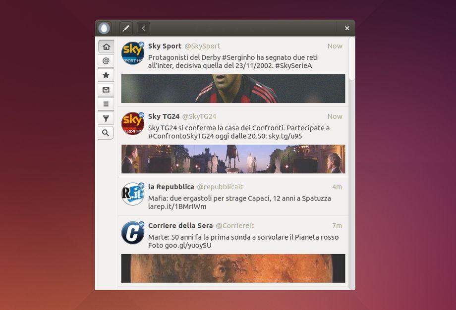 Corebird in Ubuntu