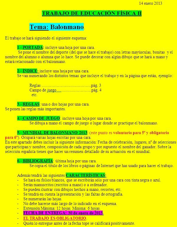 EL CHAPARRAL DEPORTIVO: MUNIDAL DE BALONMANO 2013:Trabajo de ...