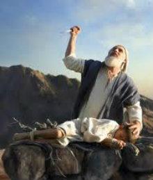 Abraão prestes a matar seu filho Isaac