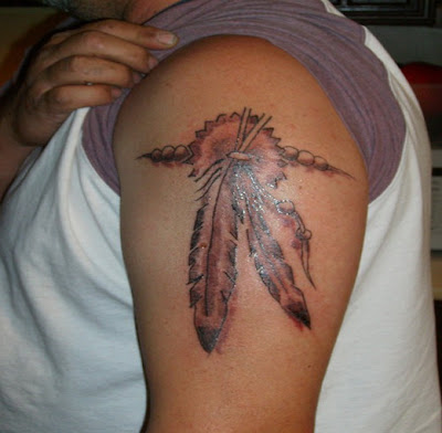 Feather tattoos  is lovely Native American designs