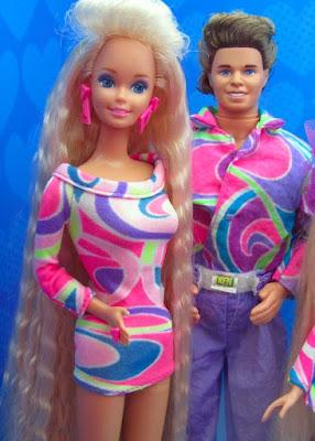 brinquedos anos 90 barbie e ken