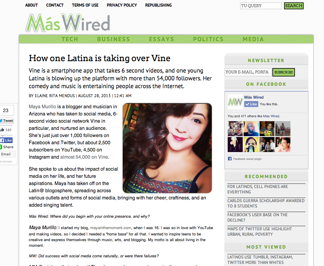 http://www.maswired.com/latina-taking-over-vine/