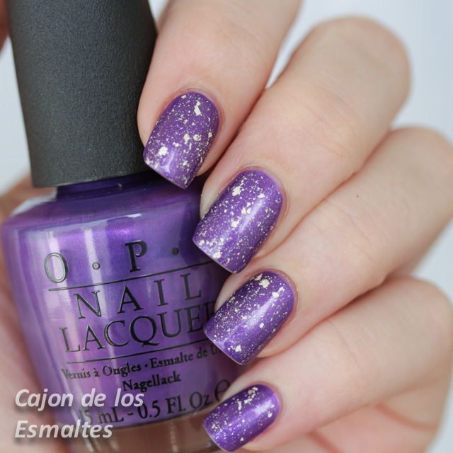 Uñas de año nuevo: OPI Purple with a Purpose + OPI Pure 18k Mariah Carey